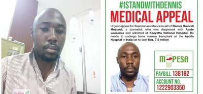 Journalist Dennis Omondi pleads for financial help as he flies to India for bone marrow transplant