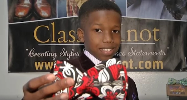 Entrepreneurial boy, 11, is founder and CEO of his own clothing accessories company (photos)