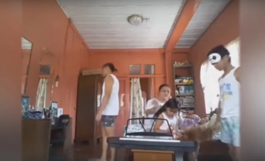Pinoy family shares their version of 'Secret Long Song'