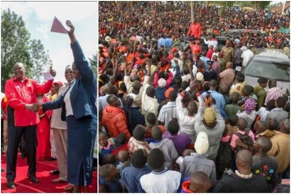 Oh, mimi nawahonga waathiriwa wa machafuko, IDPs? Uhuru amjibu Raila Odinga kwa ukali