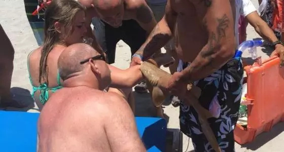 WATCH: Woman taken to a hospital with a shark attached to her arm