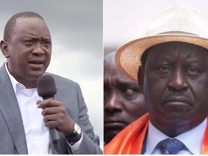 These photos show Uhuru Kenyatta and Raila Odinga at their worst