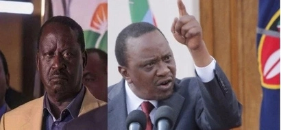 Uhuru jets back to the country back even before Raila challenges his victory in court