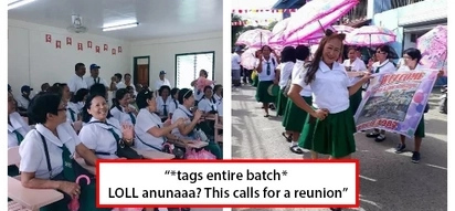 Ang extra nina mommy! Women in their 50s reunite in their old high school uniform in viral photos