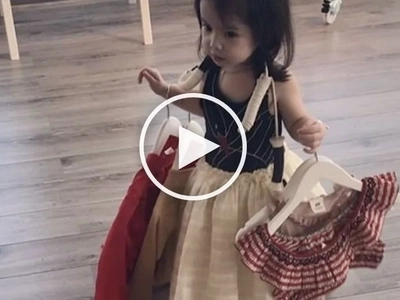 Baby Olivia draws 'aww' from netizens as she reveals her shopaholic side