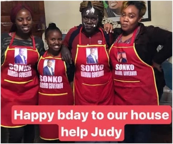 What have you done for your house help lately? Sonko throws a party at his house