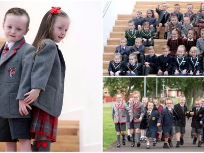 Excitement as 13 sets of twins are about to start school in the same area