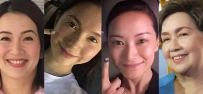15 PH celebrities exercised their voting rights