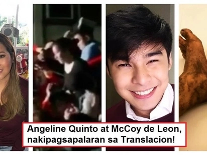 Celebrity devotees! Angeline Quinto and McCoy de Leon go the extra mile during Black Nazarene Translacion