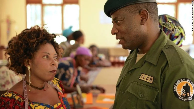 He won an environmental prize! Former child soldier in Congo now protects the country's wildlife (photos, video)