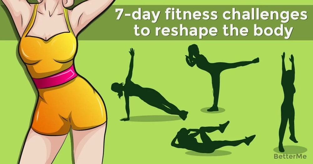 7-day fitness challenges to reshape the body