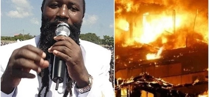 Angry residents burn Prophet Owuor's church members homes