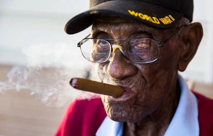 Richard Overton still enjoys cigars and whiskey at the age of 111