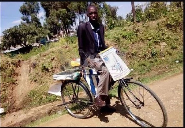 Member of parliament aspirant campaigning on a bicycle warns opponents