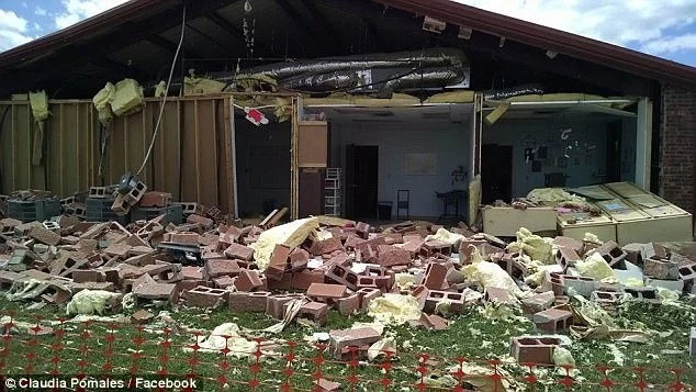 Congregants said it was a miracle non of them was injured