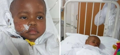 Kenyans in tears as orphan baby Brian involved in NASTY accident succumbs to brain damage a year later