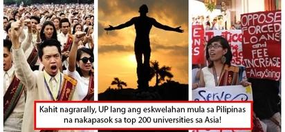 Hindi lang puro rally, matatalino talaga! UP among Asia's top 200 universities