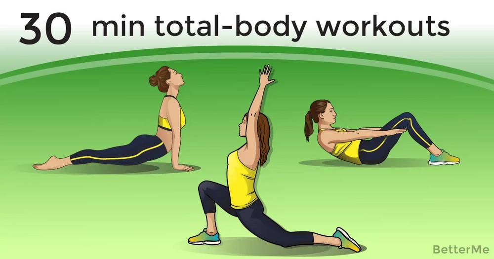 30-minute total-body workouts for each day of the workweek