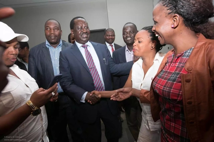 Raila in rare meeting with Mt Kenya business community members
