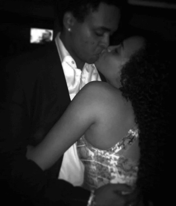 Retired president Mwai Kibaki's grandson showers lover with kisses in these explosive photos