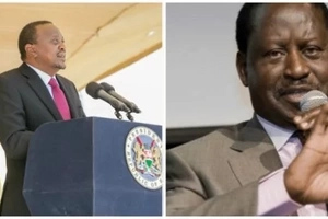 Uhuru, Raila meet face to face hours after messed up Jubilee primaries
