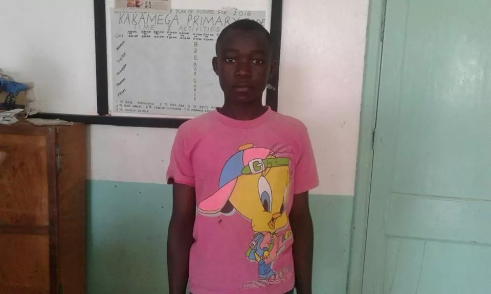 Poor boy who almost missed admission to form 1 one gets help