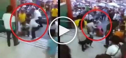 Galit na galit! Violent security guards brutally beat up tricycle driver in Tarlac mall
