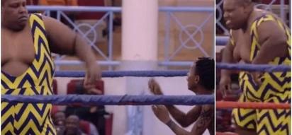 Comedian Eric Omondi beaten like a burukenge after signing up for a wrestling match, wins the match