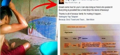 This desperate Pinoy teen shared his dream of going to Boracay with a hilarious photo. A kind-hearted netizen decided to turn it into a reality!