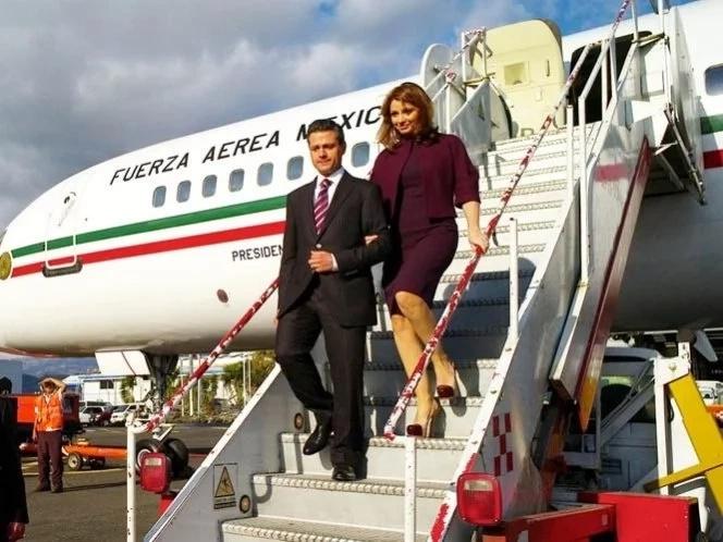 Peña Nieto usó el avión presidencial para sus caprichos personales