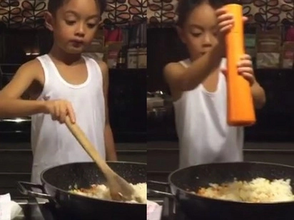 Celebrities react to Lucho Agoncillo doing chores goes viral