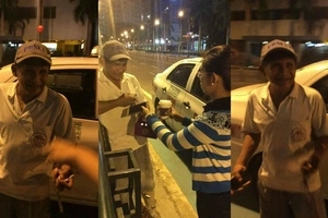 Adorable taxi driver returns passenger's cellphone and greeted her with the biggest smile and wave
