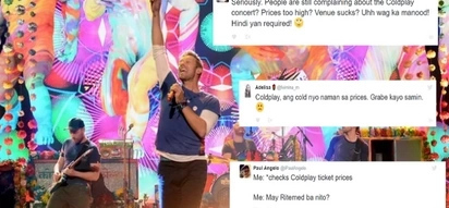 Sobra namang mahal! Netizens outraged with Coldplay's steep ticket prices