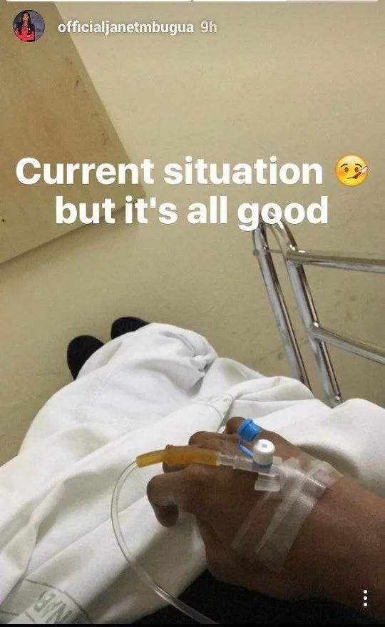 Janet Mbugua hospitalised, reason not yet clear
