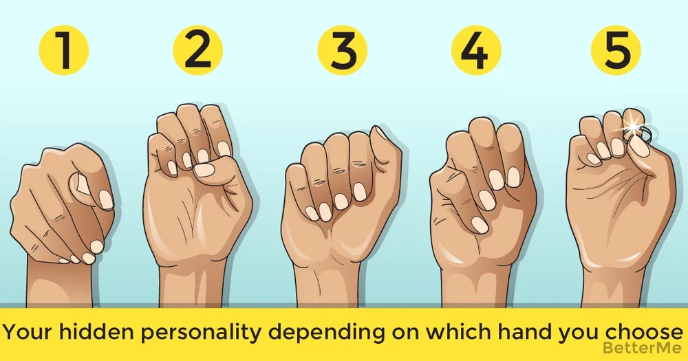 Your hidden personality depending on which hand you choose