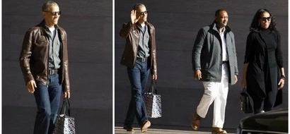 Style icon for men! Barack Obama spotted wearing leather and jeans (photos)