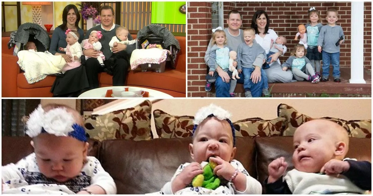 Meet couple who adopts triplets then wife finds out she's pregnant with twins one week later (photos, video)
