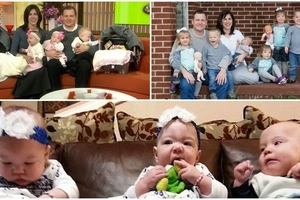 Couple adopts triplets then wife finds out she's pregnant with TWINS one week later (photos, video)