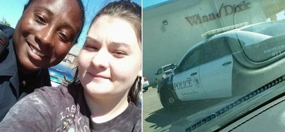This officer arrested mom who stole food to feed her baby, then the unexpected happened (photos)