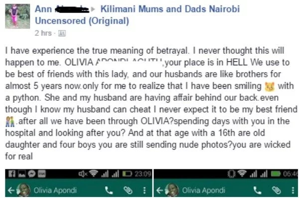 Kenyan lady does the most SAVAGE thing to her best friend who 'betrayed' her using her husband