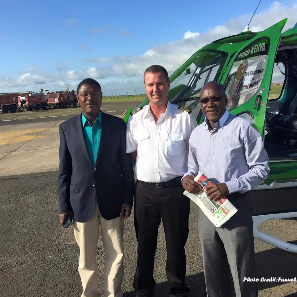 Wetangula allegedly acquires a new helicopter