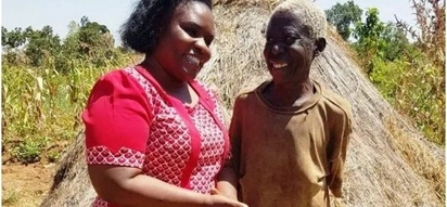 Busia county first lady to comes to the rescue of woman who was living in a cave