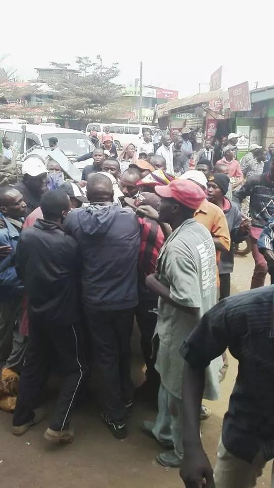 Ferdinard Waititu causes chaos in Ruiru before speeding off in his car (photos)