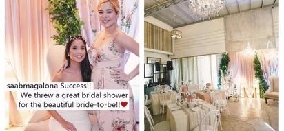 Sobrang ginandahan! Saab Magalona threw a fabulous bridal shower for her sister Maxene Magalona