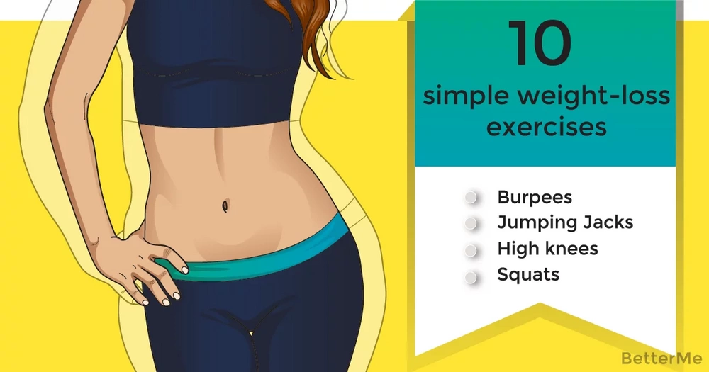 10 simple weight-loss exercises to do at home