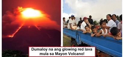 Nakakatakot naman! Red lava rolls down from Mayon volcano; thousands evacuate as eruption looms