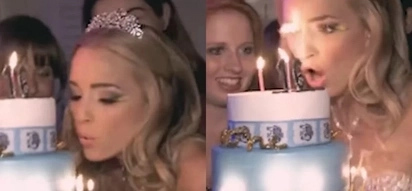 Birthday girl's fake eyelashes catch FIRE in hilarious viral video (photos, video)