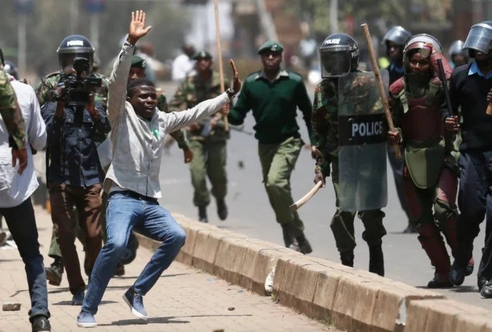 Over 37 people were killed by police and armed gangs at the report polls reports show