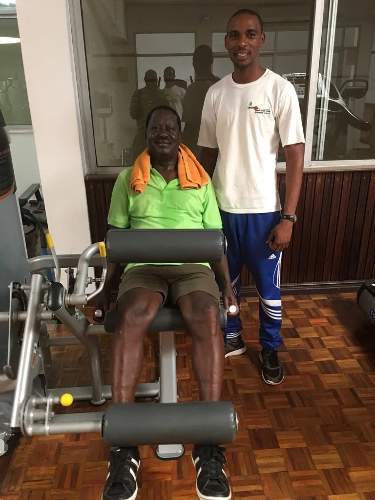 Photos revealing Raila Odinga's extensive work-out that has kept him fit at 70+ years emerge