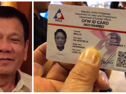 Netizens criticize President Rodrigo Duterte's image on DOLE-initiated ID cards! Harry Roque III believes Duterte didn't approve the design